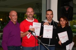 Claudio Tovani Mr GR, Marcello Periotto Scubalitrox Trento, Matteo De Lorenzi Top Dive Meran/o e Anna Maria Mencatelli RM PADI