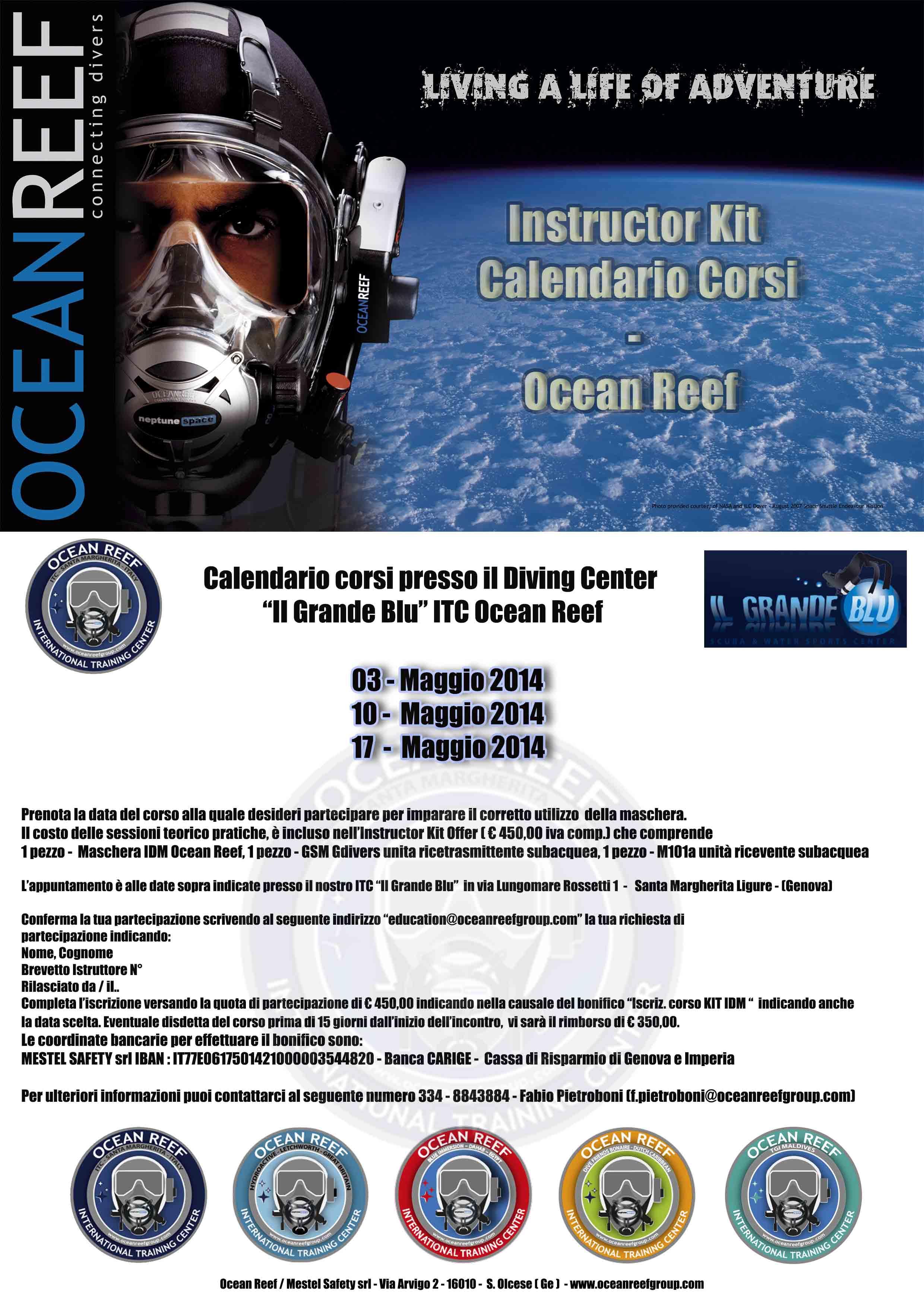 Eventi Ocean Reef: 3 date SPECIALI c/o Il GRANDE BLU a Santa Margherita Ligure (GE)